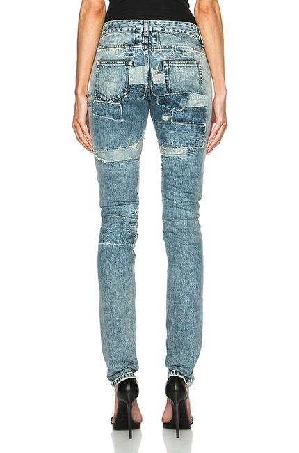st laurent jeans rear