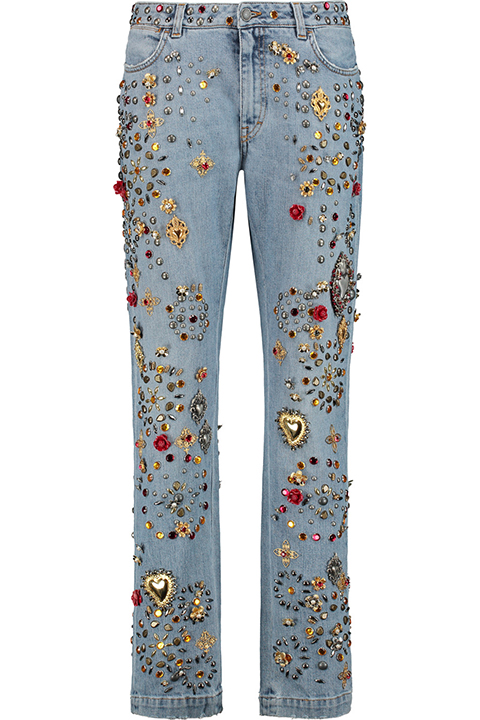 hideous embellished jeans dolce and gabbana