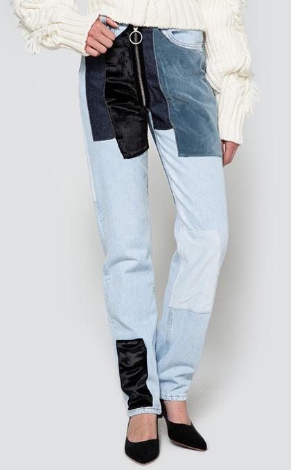 velvet patch jeans 1008
